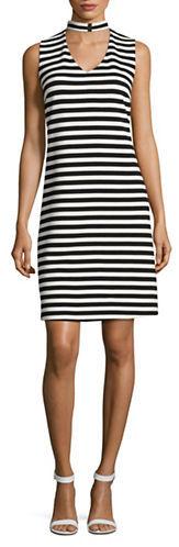 Calvin KleinCalvin Klein Striped Sleeveless Dress