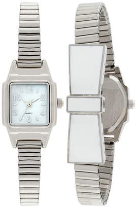 FASHION WATCHES Womens Silver Tone Expansion Watch-Jcp1434