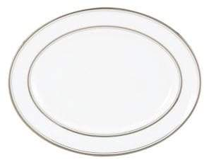 Kate Spade Library Lane Platinum-Accented Bone China Oval Platter