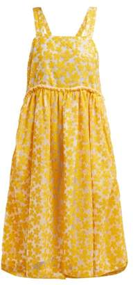 Shrimps Lucia Sequinned Floral Midi Dress - Womens - Yellow