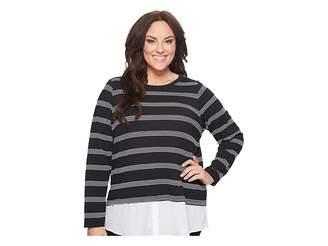Calvin Klein Plus Plus Size Textured Stripe Twofer