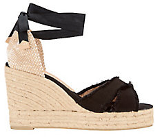 Castaner Bluma Fringed Canvas Wedge Espadrilles $155 thestylecure.com