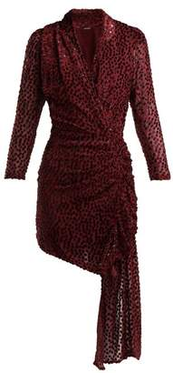 Dodo Bar Or - Ava Asymmetric Polka Dot Fil Coupe Dress - Womens - Dark Red