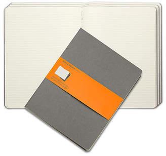 Moleskine NEW Cahier Extra Large Ruled Journal Set 3pce Grey
