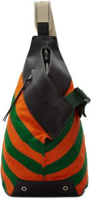 Loewe Green and Orange Anton Backpack