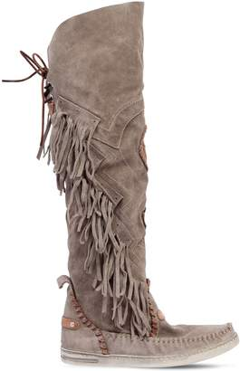 EL VAQUERO 20mm Dakota Fringed Suede Boots