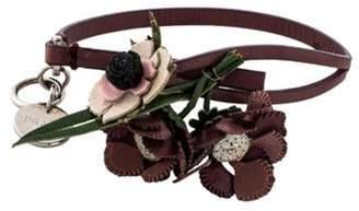 Prada Leather Flower Bracelet silver Leather Flower Bracelet