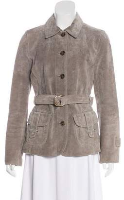 Max Mara Weekend Suede Button-Up Jacket