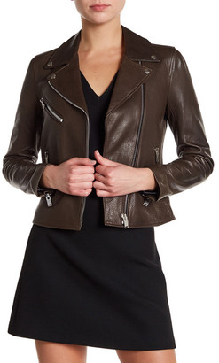 Doma Smooth Textured Leather Jacket $937.20 thestylecure.com