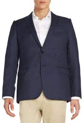 Armani Collezioni Checked Wool Jacket