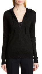 Michael Kors COLLECTION Metallic Hooded Sweater