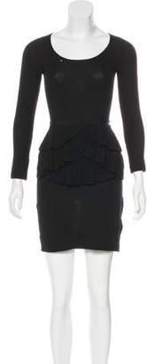 Paule Ka Merino Wool Mini Dress
