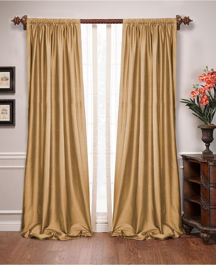CLOSEOUT! M & J Window Treatments, Empress Silk Dupioni Energy Saving Collection