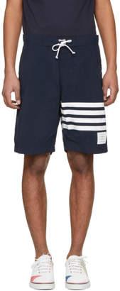 Thom Browne Navy Four Bar Board Shorts
