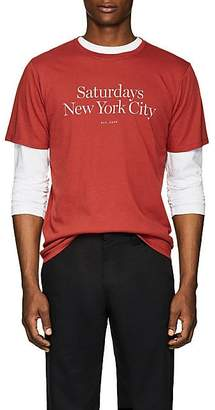 Saturdays NYC Men's Miller Logo Jersey T-Shirt - Red