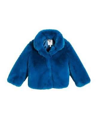 Milly Minis Faux Fur Jacket, Size 8-16