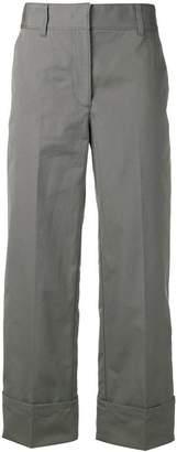 Prada cropped high-waisted trousers