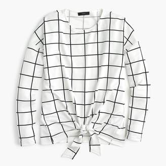 J.Crew Tie-front long-sleeve T-shirt