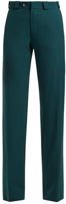 Vetements Cut Out Straight Leg Trousers - Womens - Green