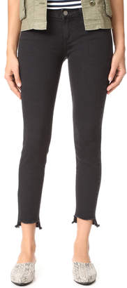 PAIGE Verdugo Ankle Jeans with Uneven Hem $209 thestylecure.com