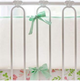 My Baby Sam Mint and White Crib Bumper Bedding