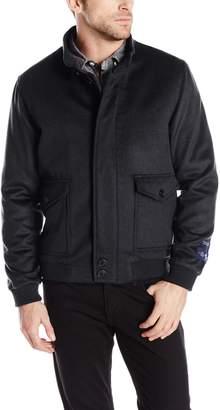 Hart Schaffner Marx Men's Holman Cashmere Blend Bomber Jacket