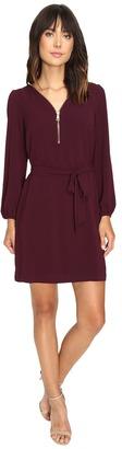 Christin Michaels JD Zip Front Shift Dress $74 thestylecure.com