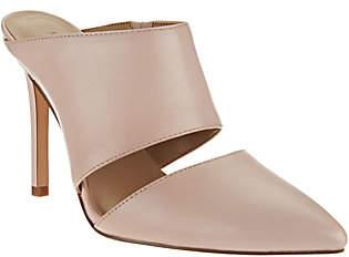 Halston H by Leather Slip-On Pointed Toe Heel -Scarlett