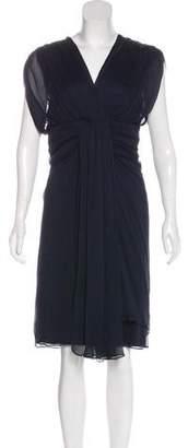 Diane von Furstenberg Tull Silk Pleated Midi Dress