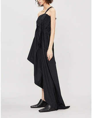 Isabel Benenato Asymmetric silk dress