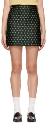 ALEXACHUNG Green B-Line Miniskirt