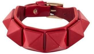 Valentino Rockstud Patent Leather Bracelet
