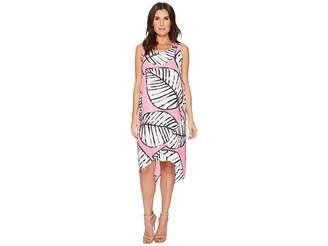 Nic+Zoe Etched Leaves Wrap Dress Women's Dress
