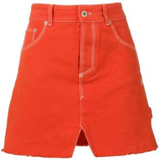 Heron Preston denim mini skirt
