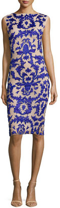 Alice + Olivia Tamika Embellished Sheath Dress, Blue $598 thestylecure.com
