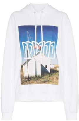 Calvin Klein Jeans Est. 1978 school flag print hoodie