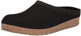 Haflinger Unisex GZL Leather Trim Grizzly Clog/Mule 46(USM13) Medium
