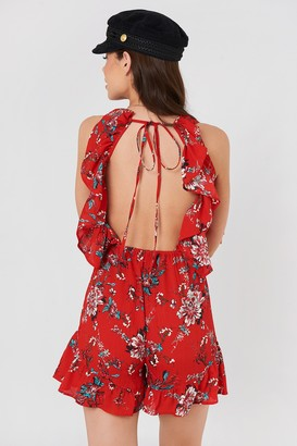 Rut & Circle Rut&Circle Fatima Playsuit Red Combo