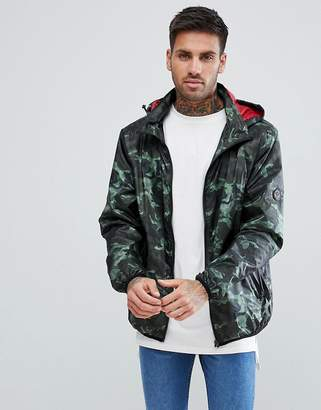 Soul Star Zip Through Printed Nylon Hooded Jacket