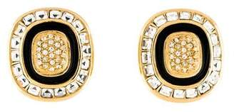 Christian Dior Enamel Clip-On Earrings