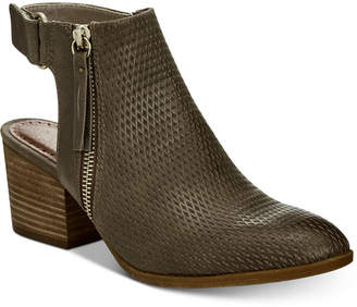 Bare Traps Baretraps Noelani Perforated Ankle Booties Women's Shoes