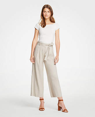 Ann Taylor Pleated Wide Leg Crop Pants