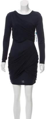 Alice + Olivia Long Sleeve Mini Dress w/ Tags Navy Long Sleeve Mini Dress w/ Tags