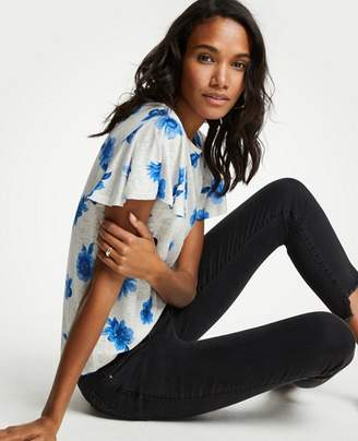 Ann Taylor The Flutter Linen Tee in Floral