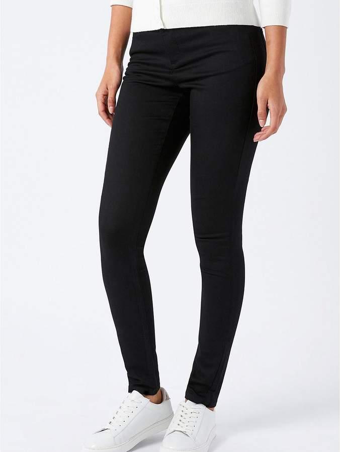 Nadine Overlap Pocket Jean - Black