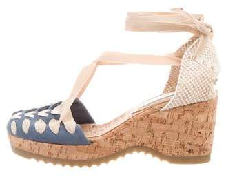 Stella McCartney Platform Round-Toe Wedges
