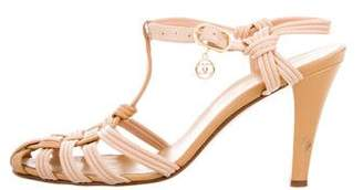 Chanel Leather T-Strap Sandals