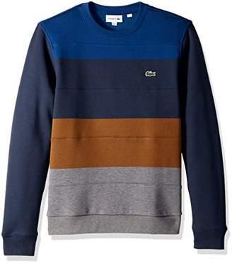 Lacoste Men's Long Sleeve Multi Color Block Sweatshirt