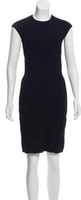 Alexander McQueen Textured Bodycon Dress Indigo Textured Bodycon Dress