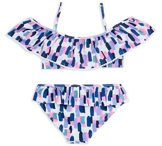 Kate Spade Girls' Off-the-Shoulder 2-Piece Swimsuit - Big Kid